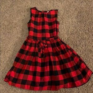 Carters red and black plaid dress